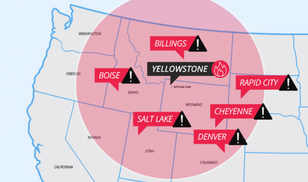 Yellowstone Volcano Eruption: Which Us Cities Are At Risk From Lava within If Yellowstone Erupts Which States Would Be Affected Map