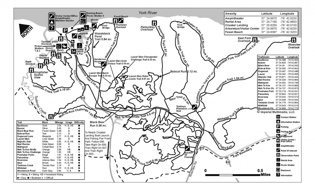York River State Park - Find Your Chesapeake throughout First Landing State Park Trail Map
