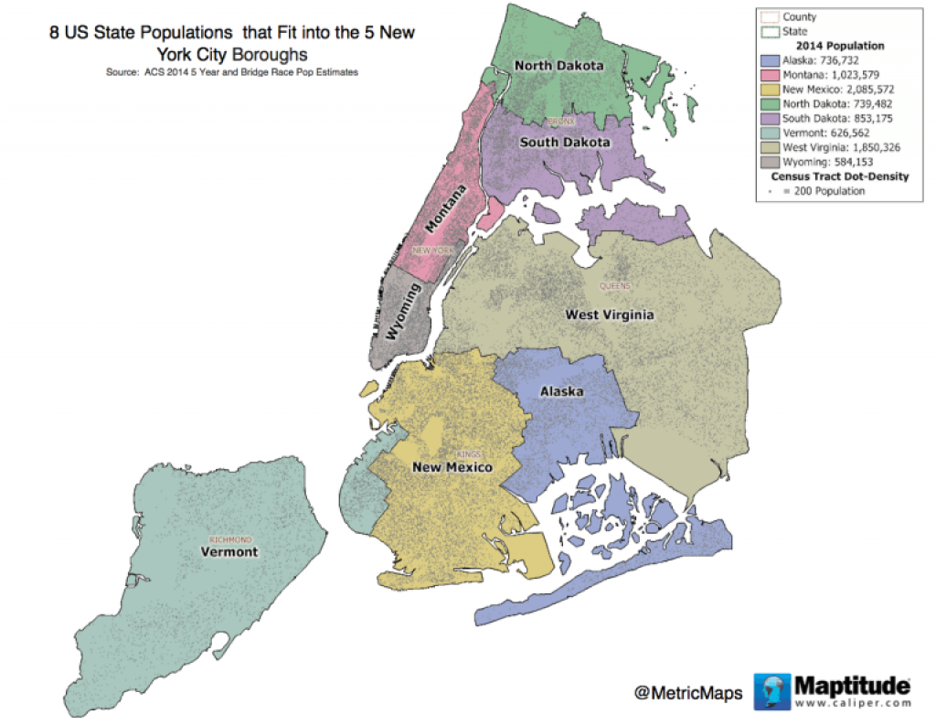 You Could Squeeze The Population Of 8 States Into Nyc's 5 Boroughs intended for New York State Landmarks Map