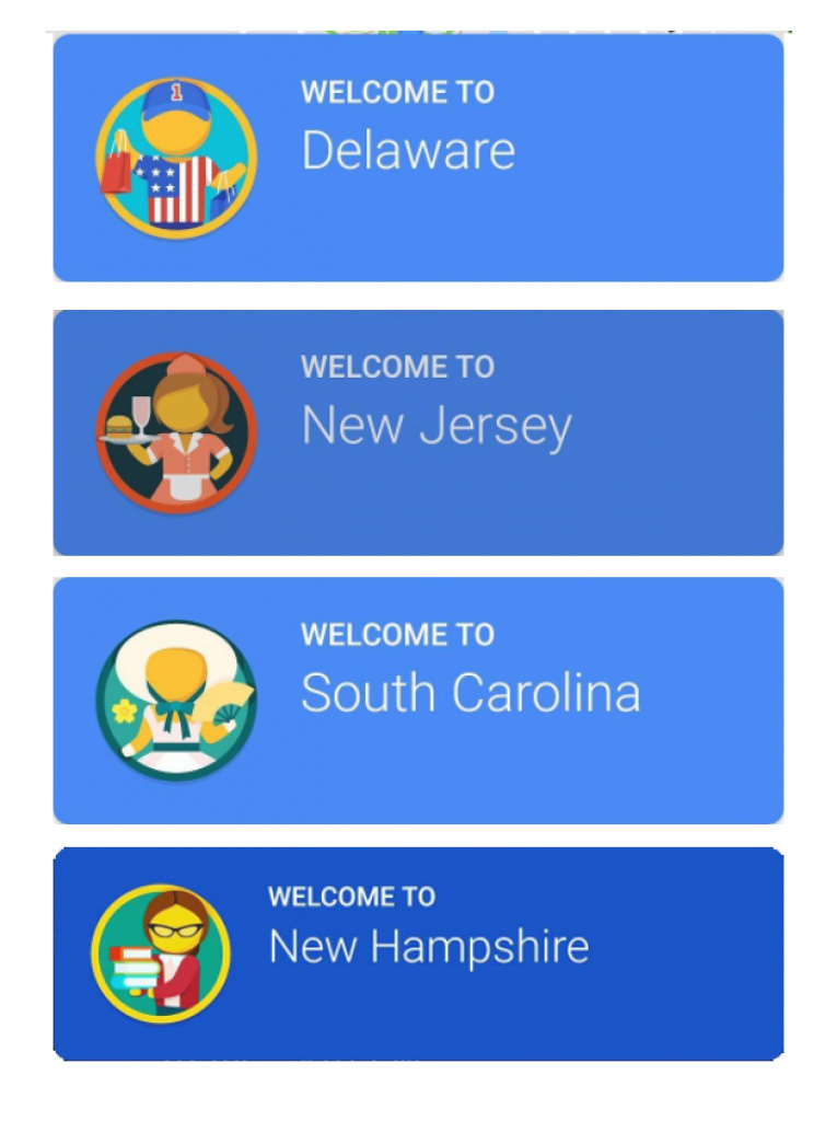 Your State's Biggest Stereotype, According To Google Maps | Travelpulse regarding Google Maps State Icons