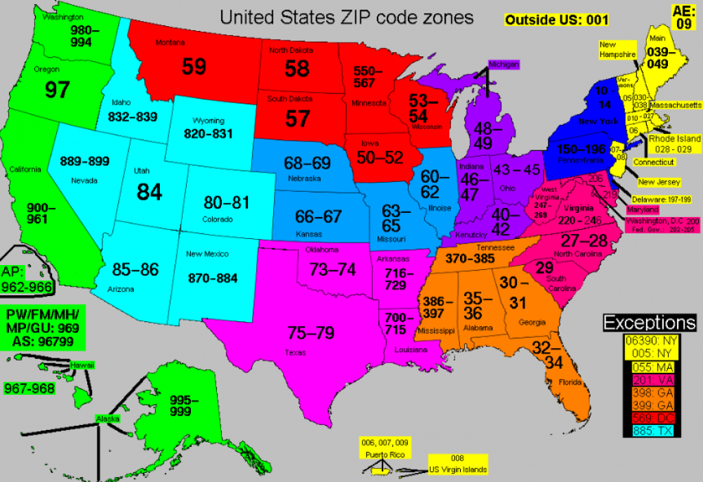 Zip Code State Maps And Travel Information | Download Free Zip Code with Zip Code Maps By State